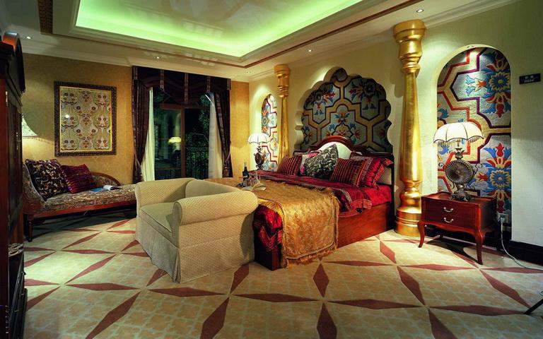 伊斯兰传统风格的居住空间设计图